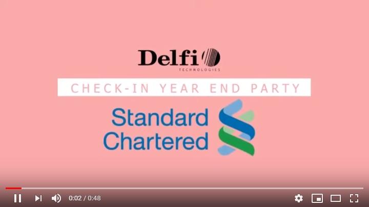 DELFI CHECK-IN SỰ KIỆN YEAR END PARTY 2019 CỦA NGÂN HÀNG STANDARD CHARTERED